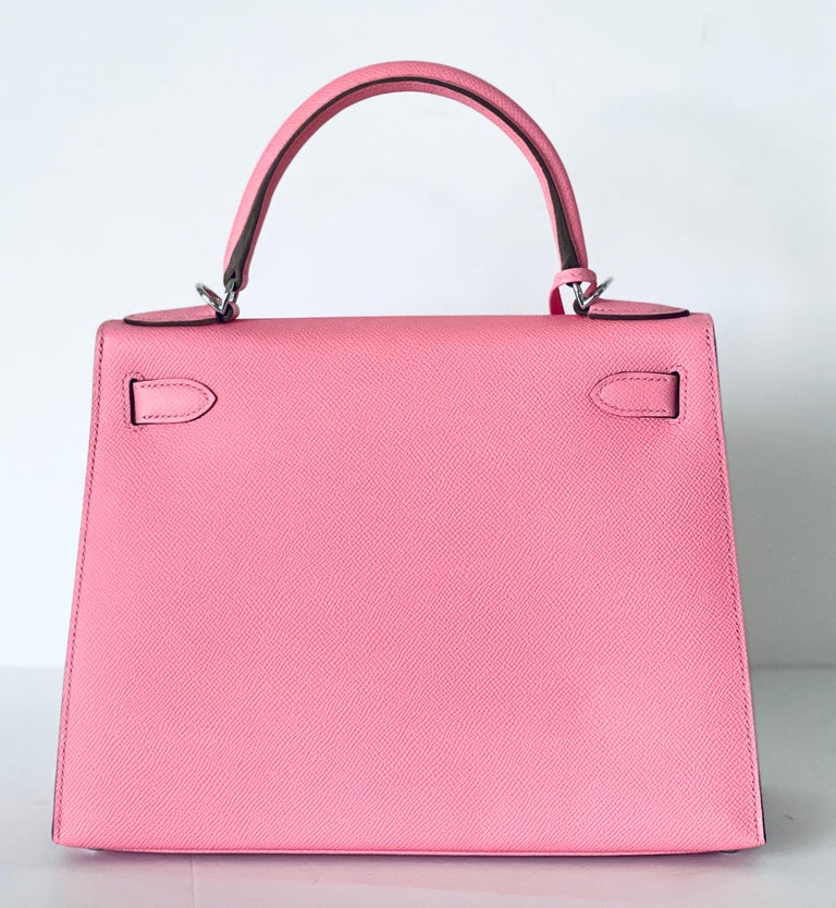Hermes Kelly 28cm Rose Confetti Pink Sellier Shoulder Bag Y Stamp, 2020 In New Condition For Sale In Delray Beach, FL