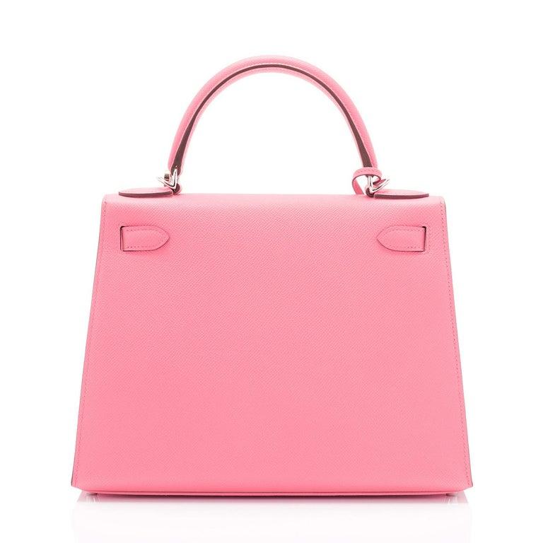 Hermes Kelly 28cm Rose Confetti Pink Sellier Shoulder Bag Y Stamp, 2020 For Sale 1
