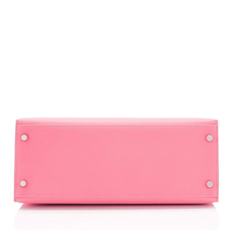 Hermes Kelly 28cm Rose Confetti Pink Sellier Shoulder Bag Y Stamp, 2020 For Sale 3