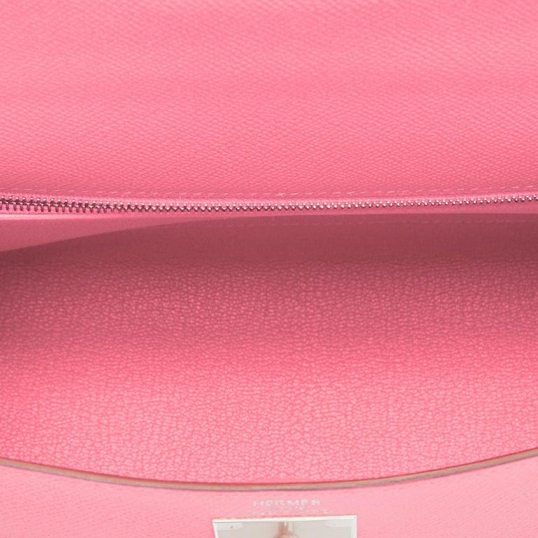 Hermes Kelly 28cm Rose Confetti Pink Sellier Shoulder Bag Y Stamp, 2020 For Sale 4