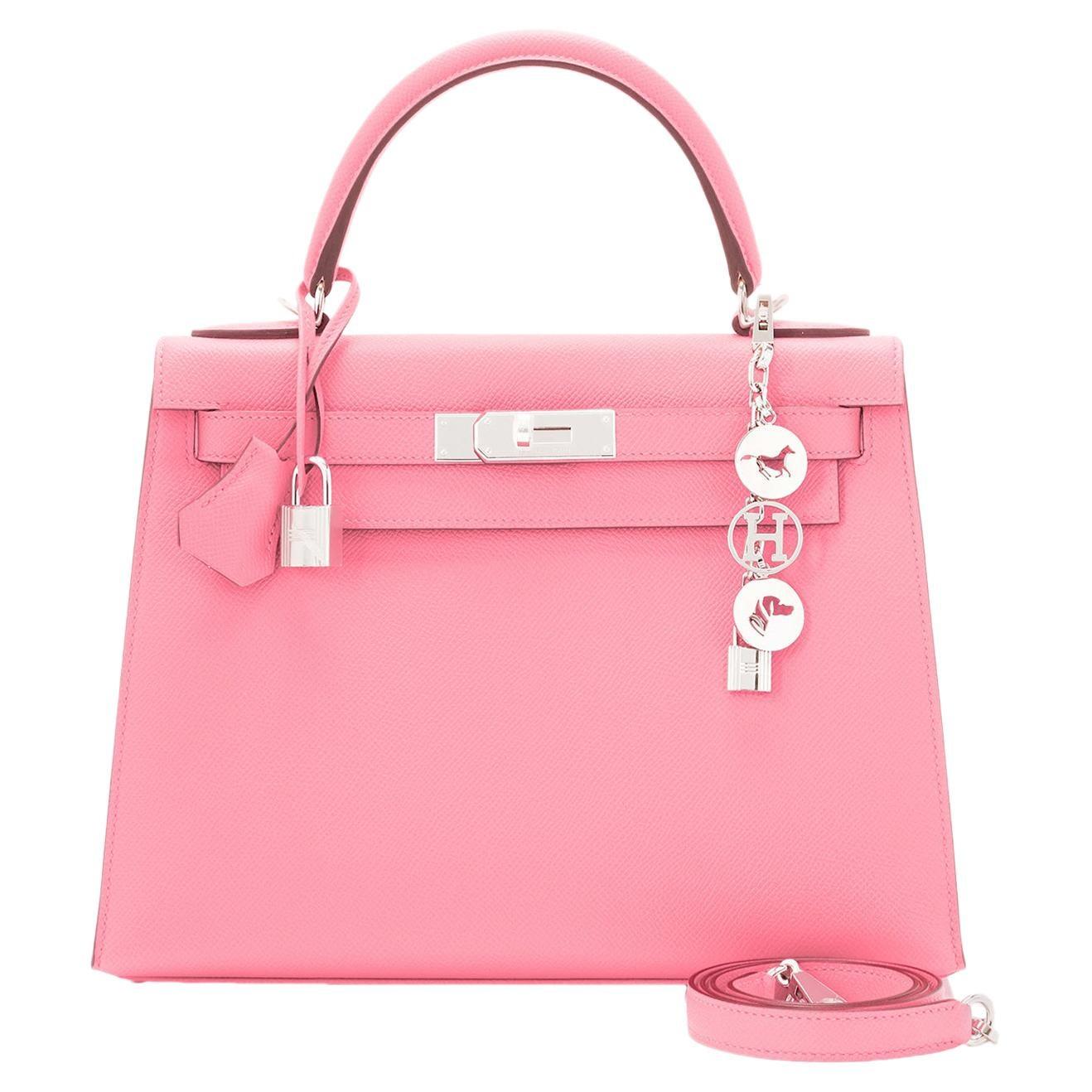 Hermes Kelly 28cm Rose Confetti Pink Sellier Shoulder Bag Y Stamp, 2020