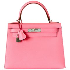 Hermes Kelly 28cm Rose Confetti Pink Sellier Shoulder Bag Y Stamp, 2020
