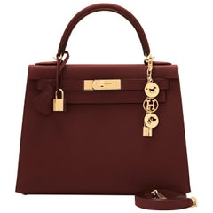 Hermes Kelly 28cm Rouge H Hermes Epsom Sellier Gold Hardware Y Stamp, 2020