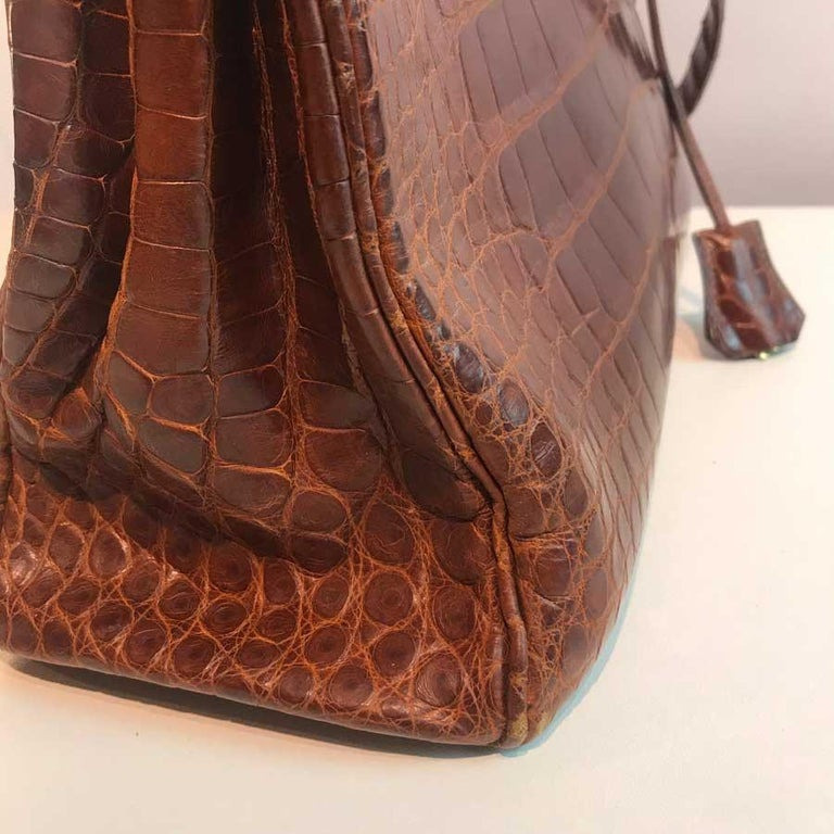 HERMES Kelly 32 Alligator And Golden Jewelry For Sale 10