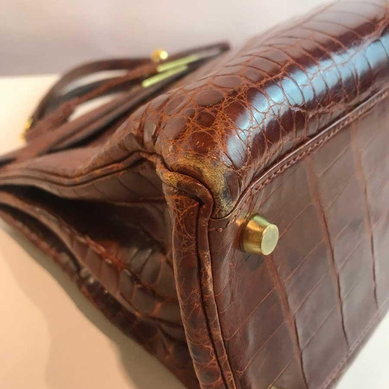 HERMES Kelly 32 Alligator And Golden Jewelry For Sale 1