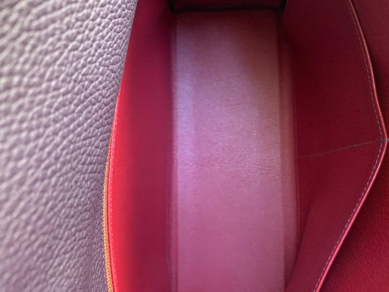 Hermes Kelly 32 Bag HSS Special order Raisin Pink Stitching Gold Hardware For Sale 5