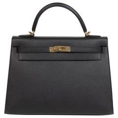 Hermès Kelly 32 Black Epsom GHW