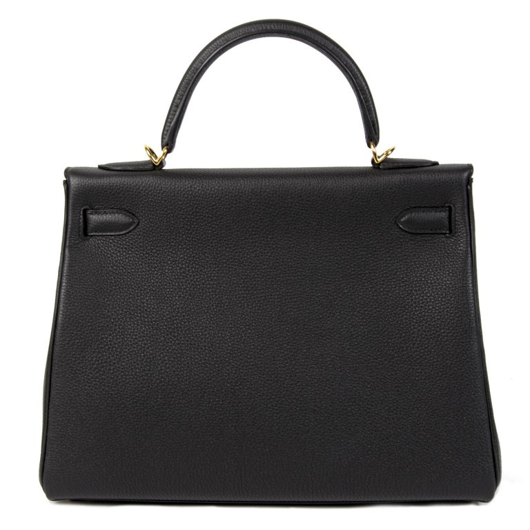Hermès Kelly 32 Black Togo GHW In New Condition In Antwerp, BE
