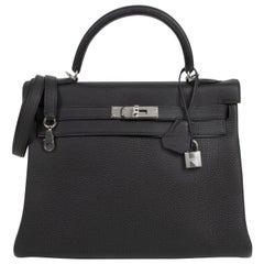 Hermès Kelly 32 Black Togo PHW