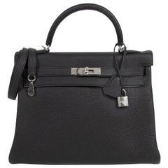 Hermès Kelly 32 Black Togo PHW