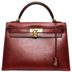 Hermès Kelly 32 Rouge Imperial Vintage