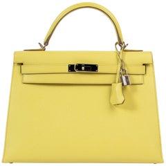 Hermès Kelly 32 Epsom Soufre PHW