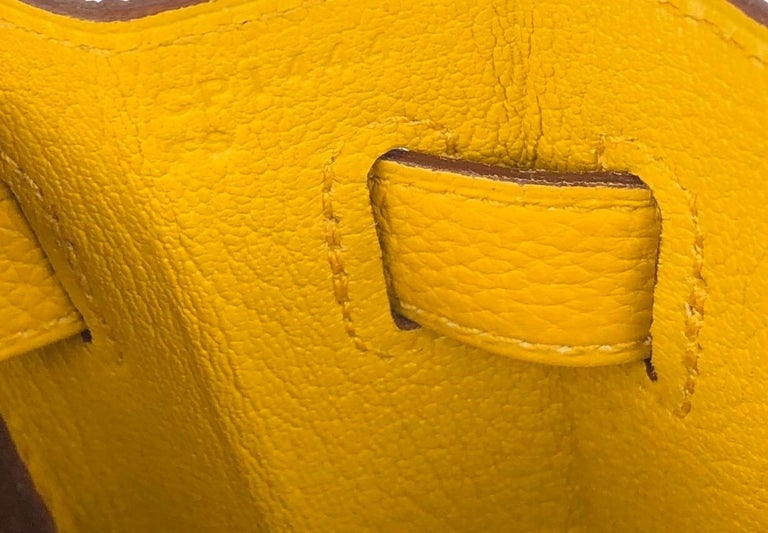 Hermes Kelly 32 Jaune Ambre Yellow Togo Gold Hardware 2018 For Sale 5