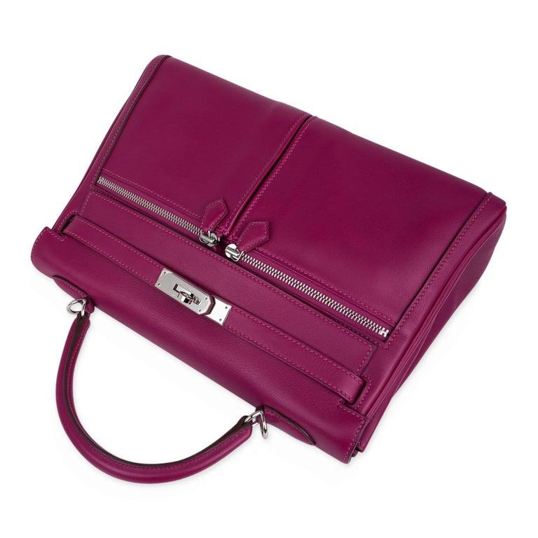Hermes Kelly 32 Lakis Bag Tosca Swift Palladium Hardware nEW For Sale 1