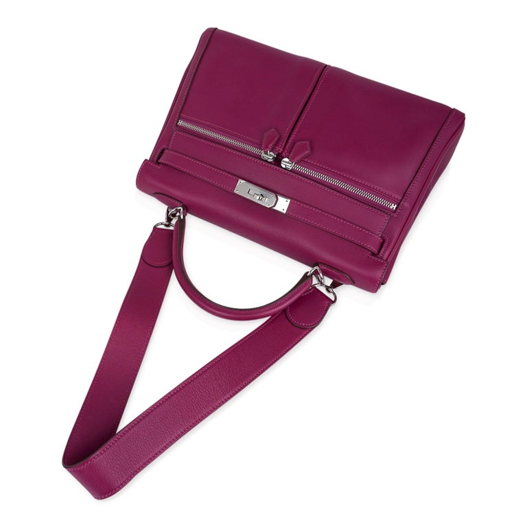 Hermes Kelly 32 Lakis Bag Tosca Swift Palladium Hardware nEW For Sale 2
