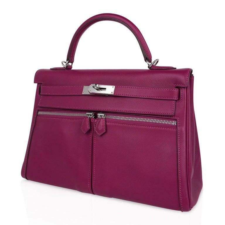 Hermes Kelly 32 Lakis Bag Tosca Swift Palladium Hardware nEW For Sale 3