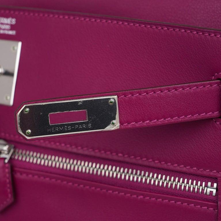 Hermes Kelly 32 Lakis Bag Tosca Swift Palladium Hardware nEW For Sale 4