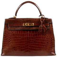Hermes Kelly 32 Miel Crocodile GHW