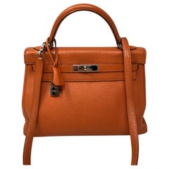 Hermes Kelly 32 Orange Bag