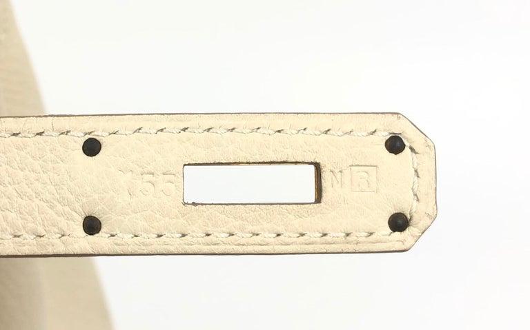 Hermes Kelly 32 Parchemin Beige Togo Gold Hardware Pristine Plastic On Hardware For Sale 5