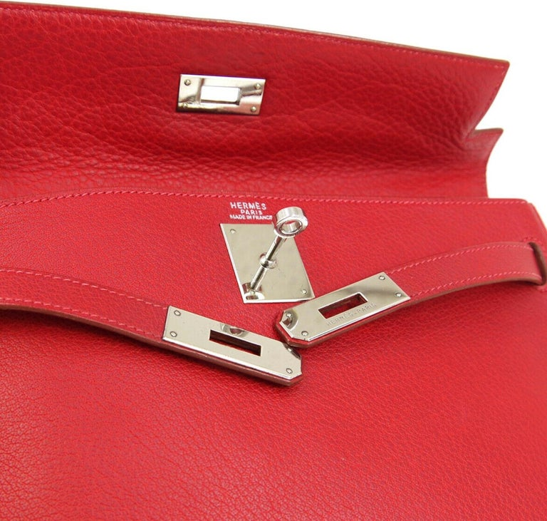 Leather Palladium hardware Date code present Made in France Handle drop 3
