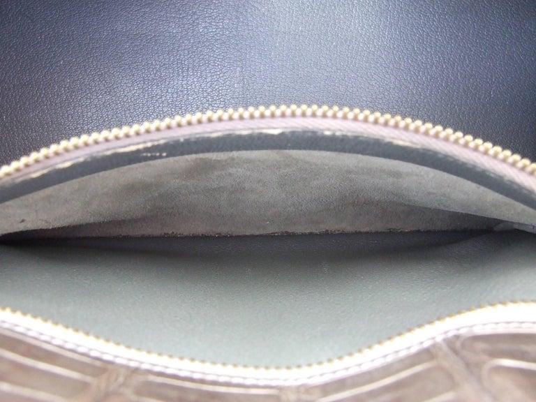 Hermes Kelly 32 Sellier Tricolor Beige Cognac Grey Alligator Crocodile GHW Bag  For Sale 6