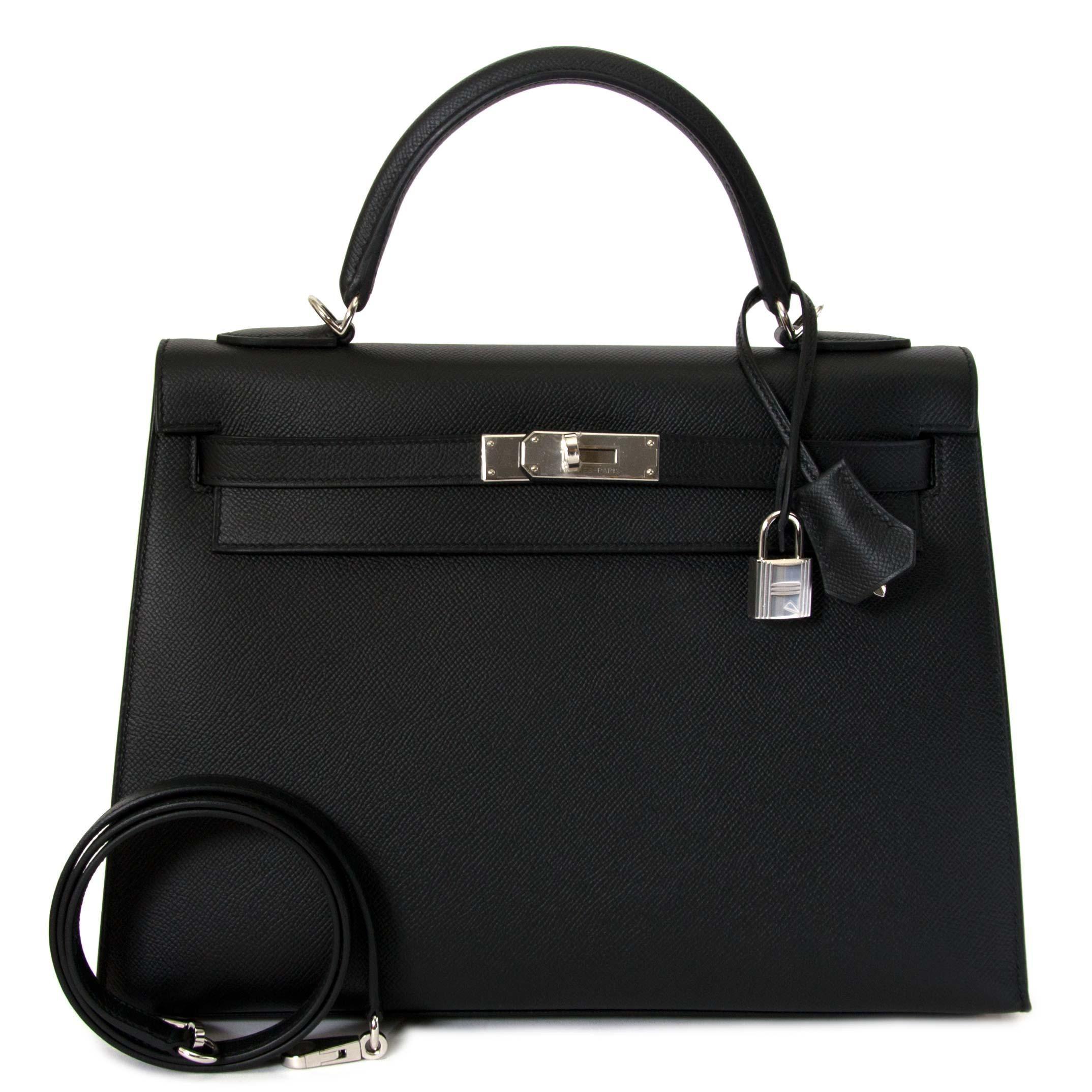 2125346a1b8b BRAND NEW Hermès Kelly Bag 28 Togo Vert Fonce GHW With Shoulder Strap at  1stdibs