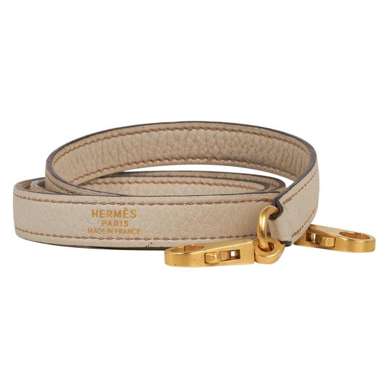 Hermes Kelly 32 Tri-Color Bag Tabac Camel/Ebene/Parchemin Brushed Gold Hardware  For Sale 6