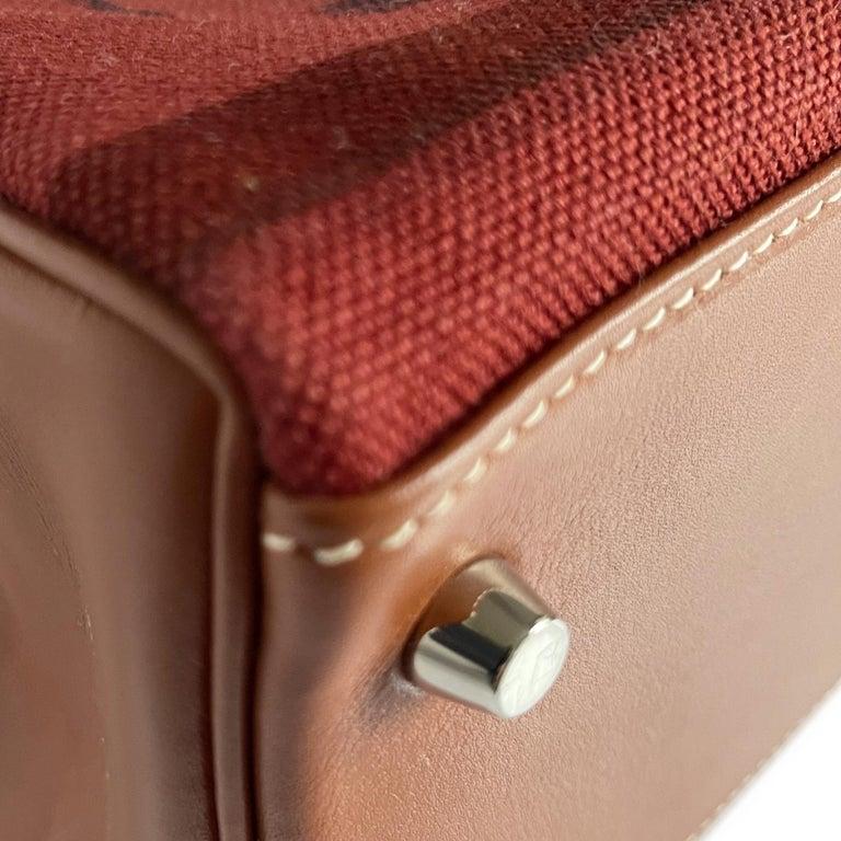 Hermès Kelly 32cm Amazon Fauve Barenia Palladium Horse Motif Hardware For Sale 1