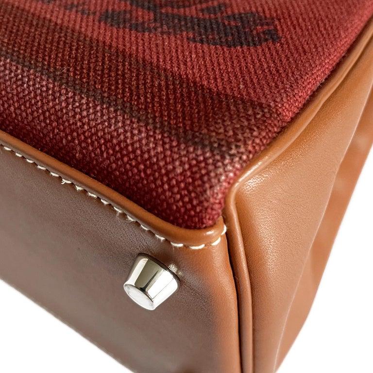 Hermès Kelly 32cm Amazon Fauve Barenia Palladium Horse Motif Hardware For Sale 2