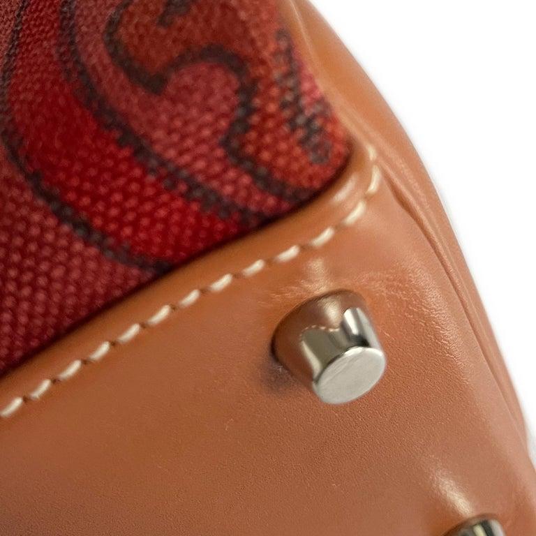 Hermès Kelly 32cm Amazon Fauve Barenia Palladium Horse Motif Hardware For Sale 4