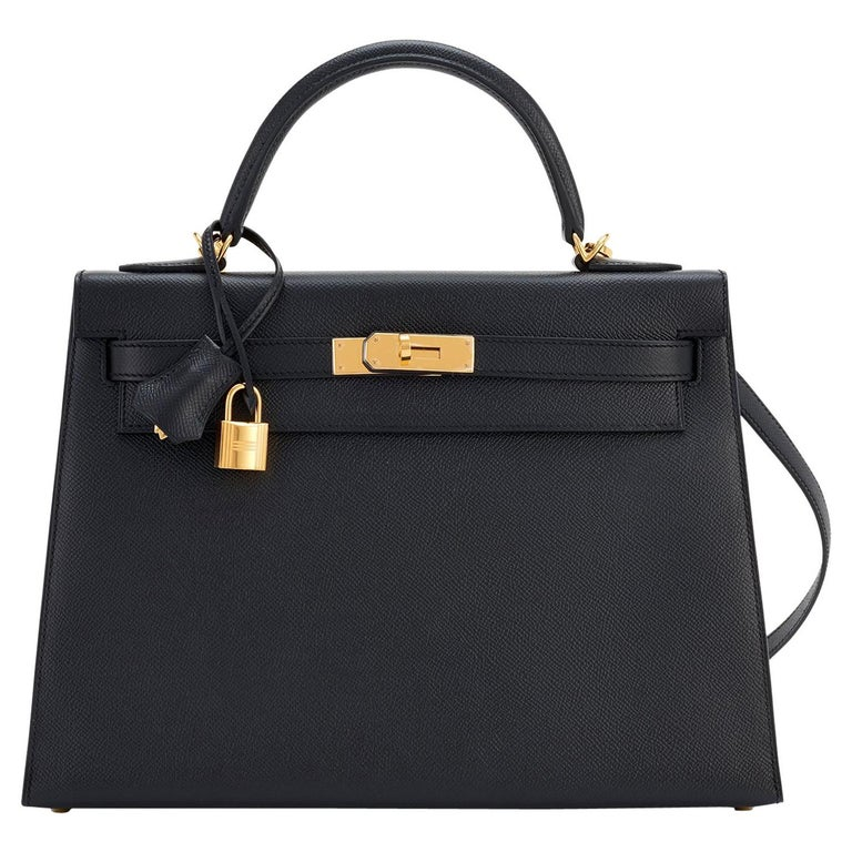 Hermès 32cm black epsom Sellier Kelly, 21st Century, offered by Chicjoy