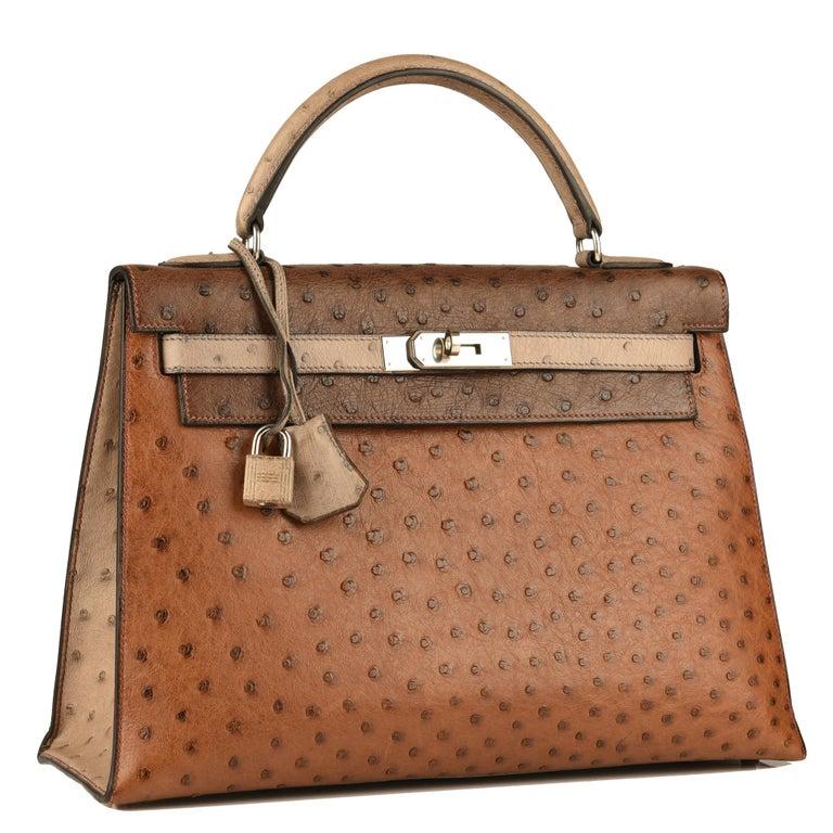 Brown Hermès Kelly 32cm