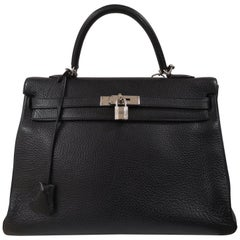 Hermès Kelly 35 black leather
