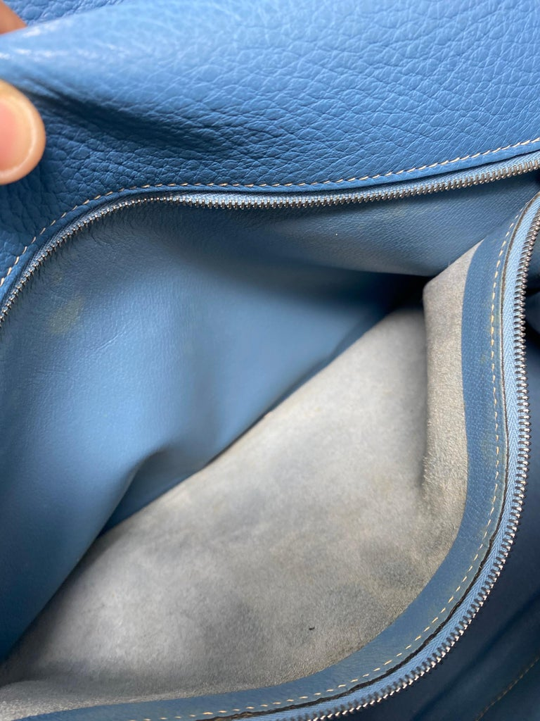 Hermès Kelly 35 Blue Jean  For Sale 6