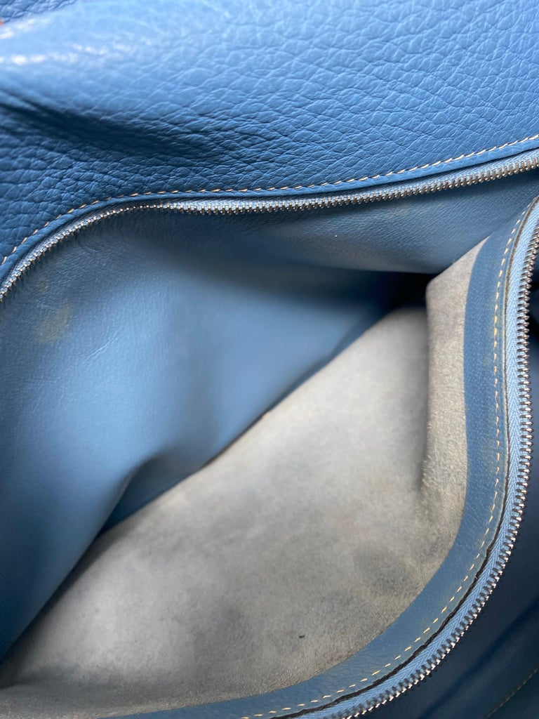 Hermès Kelly 35 Blue Jean  For Sale 7