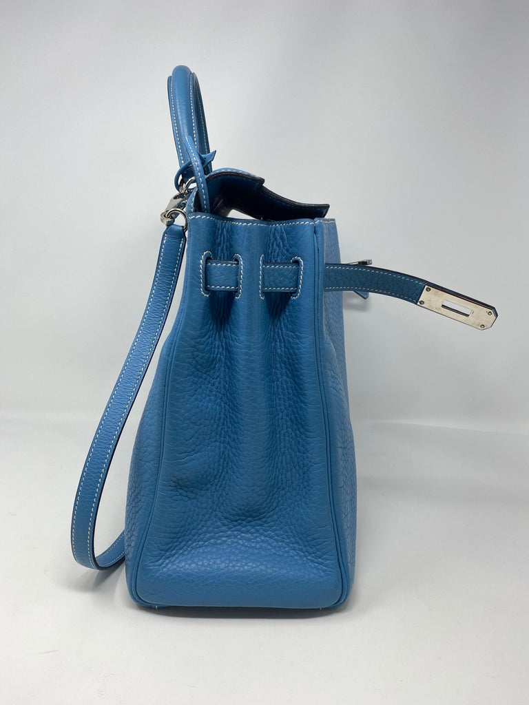 Hermès Kelly 35 Blue Jean  For Sale 8
