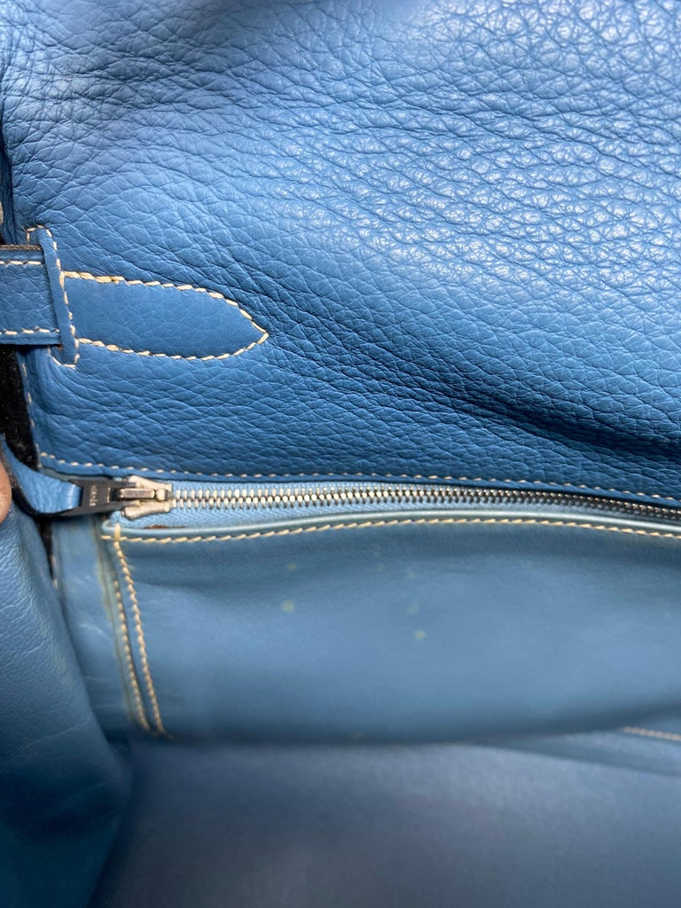 Hermès Kelly 35 Blue Jean  For Sale 3
