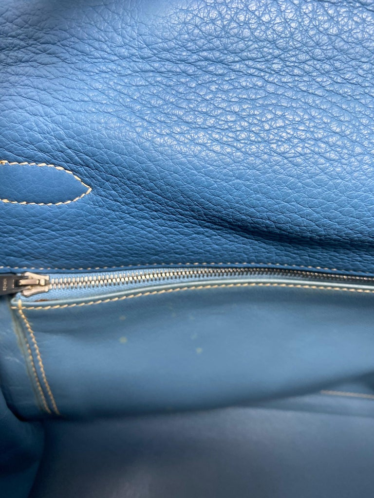 Hermès Kelly 35 Blue Jean  For Sale 4
