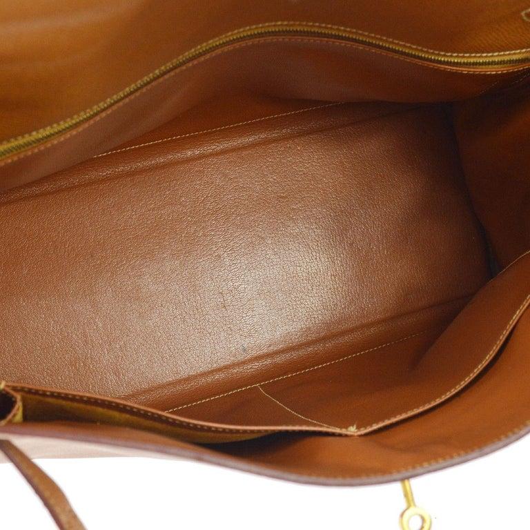 af2c1f49fdd80 Hermes Kelly 35 Cognacbraun Leder Griff an der Oberseite Satchel Shopper  Umhängetasche 9
