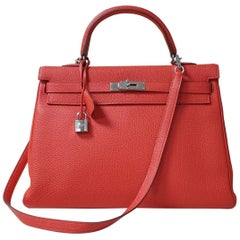 Hermès Kelly 35 Leather Handbag