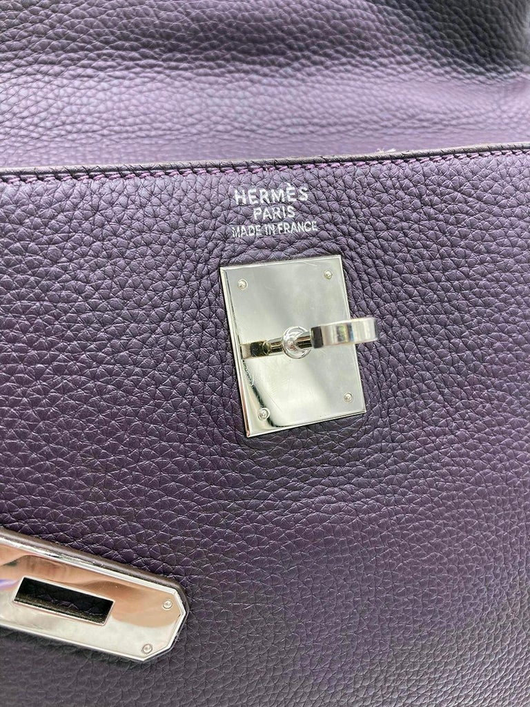 Hermes Kelly 35 Raisin Clemence PDH For Sale 3