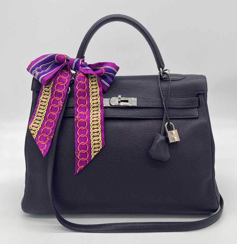 Hermes Kelly 35 Raisin Clemence PDH For Sale