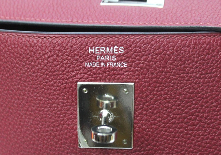 Hermès Kelly 35 Ruby Red Togo Leather  In Excellent Condition For Sale In Torre Del Greco, IT