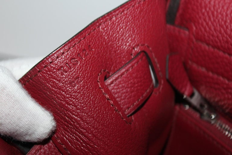 Hermès Kelly 35 Ruby Red Togo Leather  For Sale 1