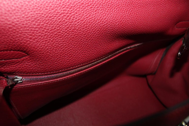 Hermès Kelly 35 Ruby Red Togo Leather  For Sale 2