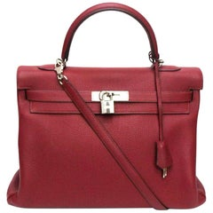 Hermès Kelly 35 Ruby Red Togo Leather