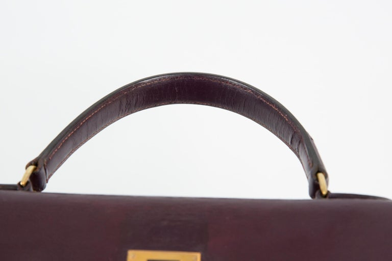 Hermes Kelly 35cm Cherry Boxcalf     For Sale 5