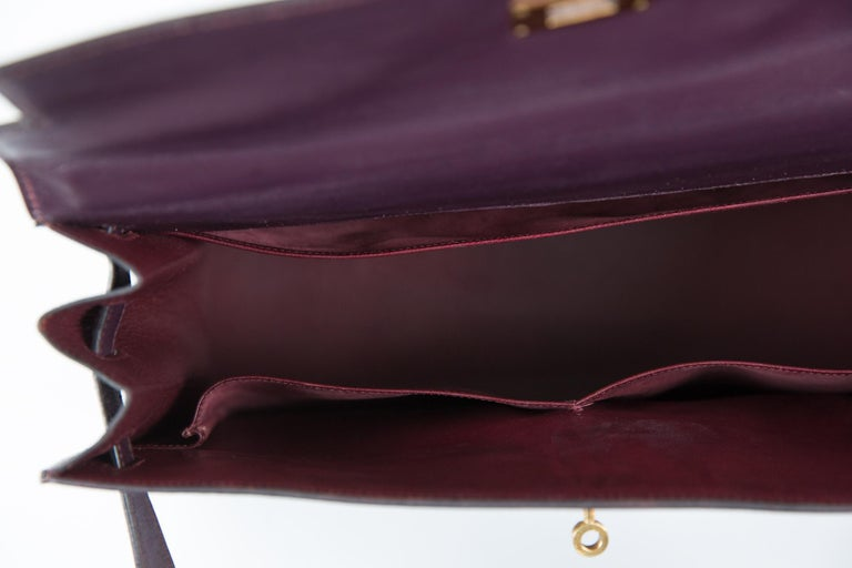 Hermes Kelly 35cm Cherry Boxcalf     For Sale 7