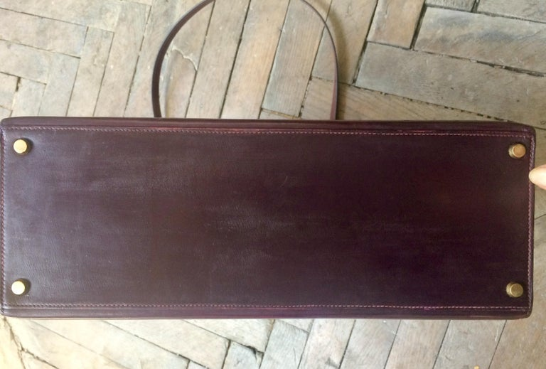 Hermes Kelly 35cm Cherry Boxcalf     For Sale 8